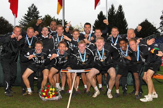 Europameister 2014: Deutschland 31.08.2014 --- Faustball Europameisterschaft Maenner --- Europameister Deutschland