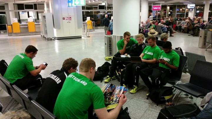 Das Nationalteam ist am Samstag vom Frankfurter Airport zur WM in Argentinien aufgebrochen. (Foto. DFBL)