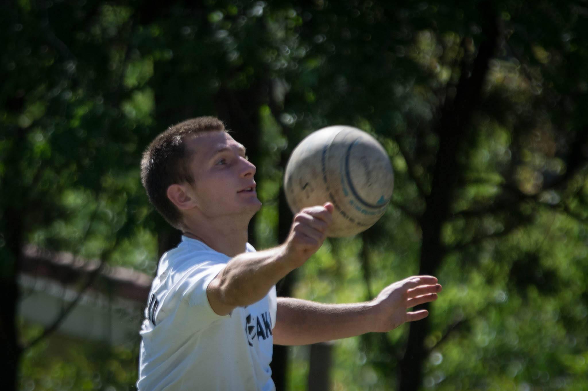 Fabian Sagstetter beim letzten Training vor dem WM-Start. (Foto: DFBL/Schönwandt)