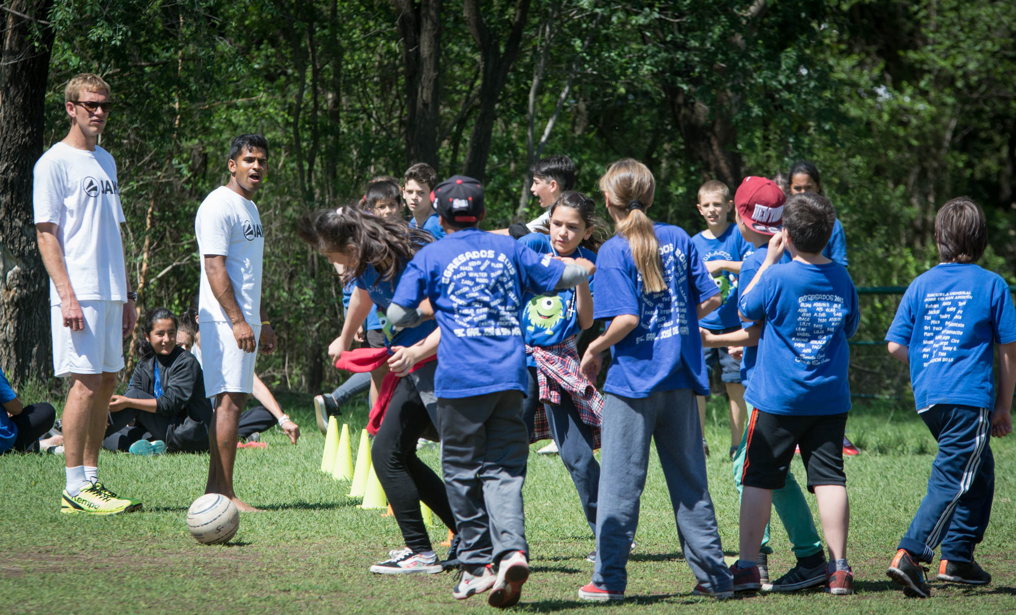 300 Kinder hatten Spaß mit dem deutschen Nationalteam (Foto: DFBL/Schönwandt)