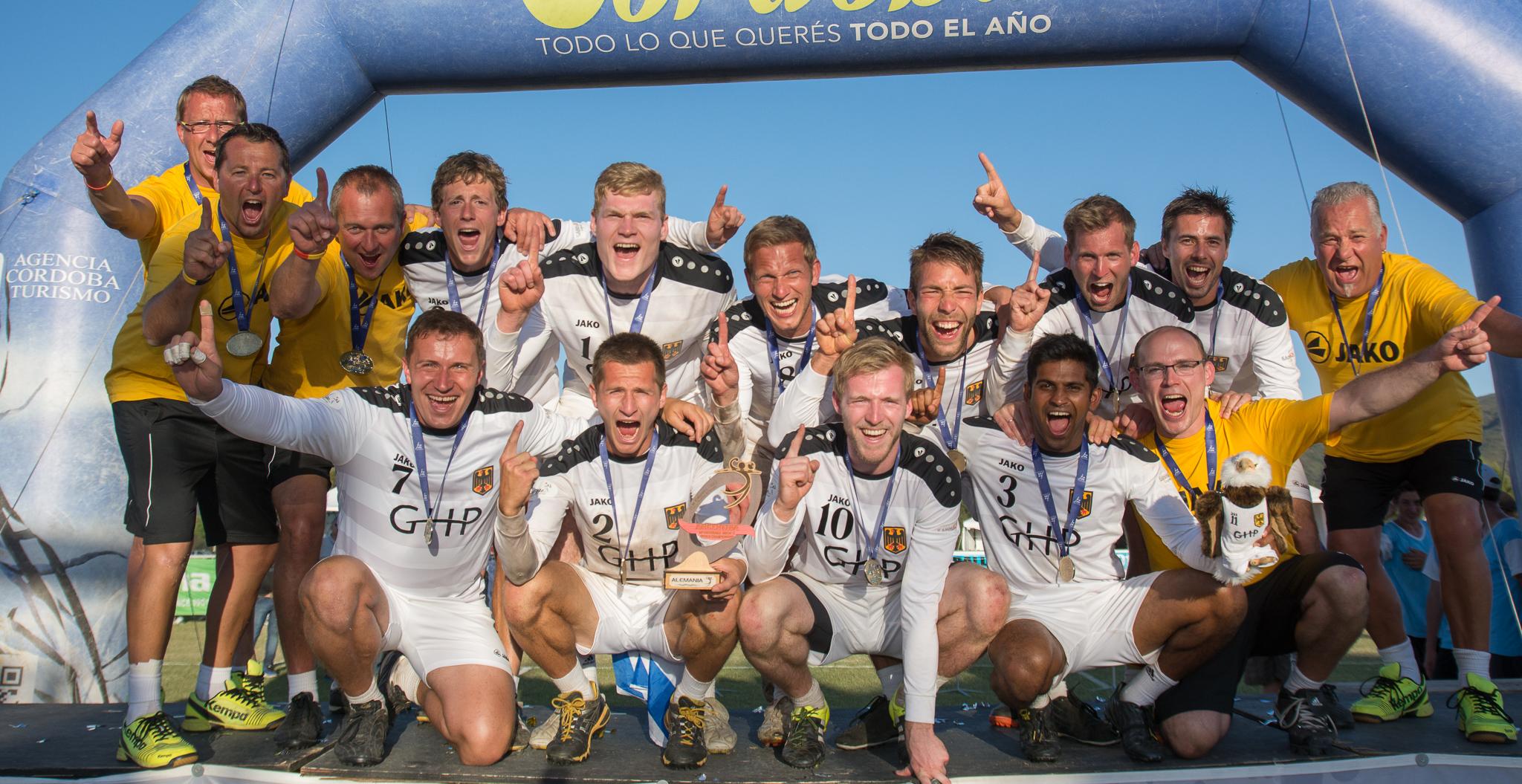 Faustball-Weltmeister 2015: Deutschland! (Foto: DFBL/Schönwandt)