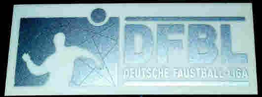 DFBL Aufkleber silber