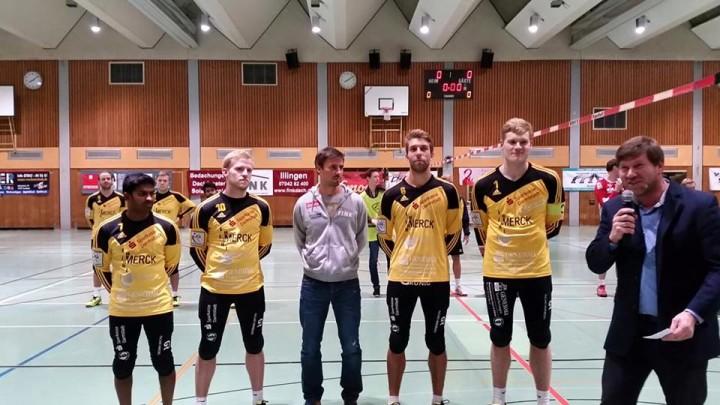 Ausgezeichnete Pfungstädter (v. l.): Ajith Fernando, Sebastian Thomas, Michael Marx aus Vaihingen, Nick Trinemeier und Patrick Thomas (Foto: TSV Pfungstadt)