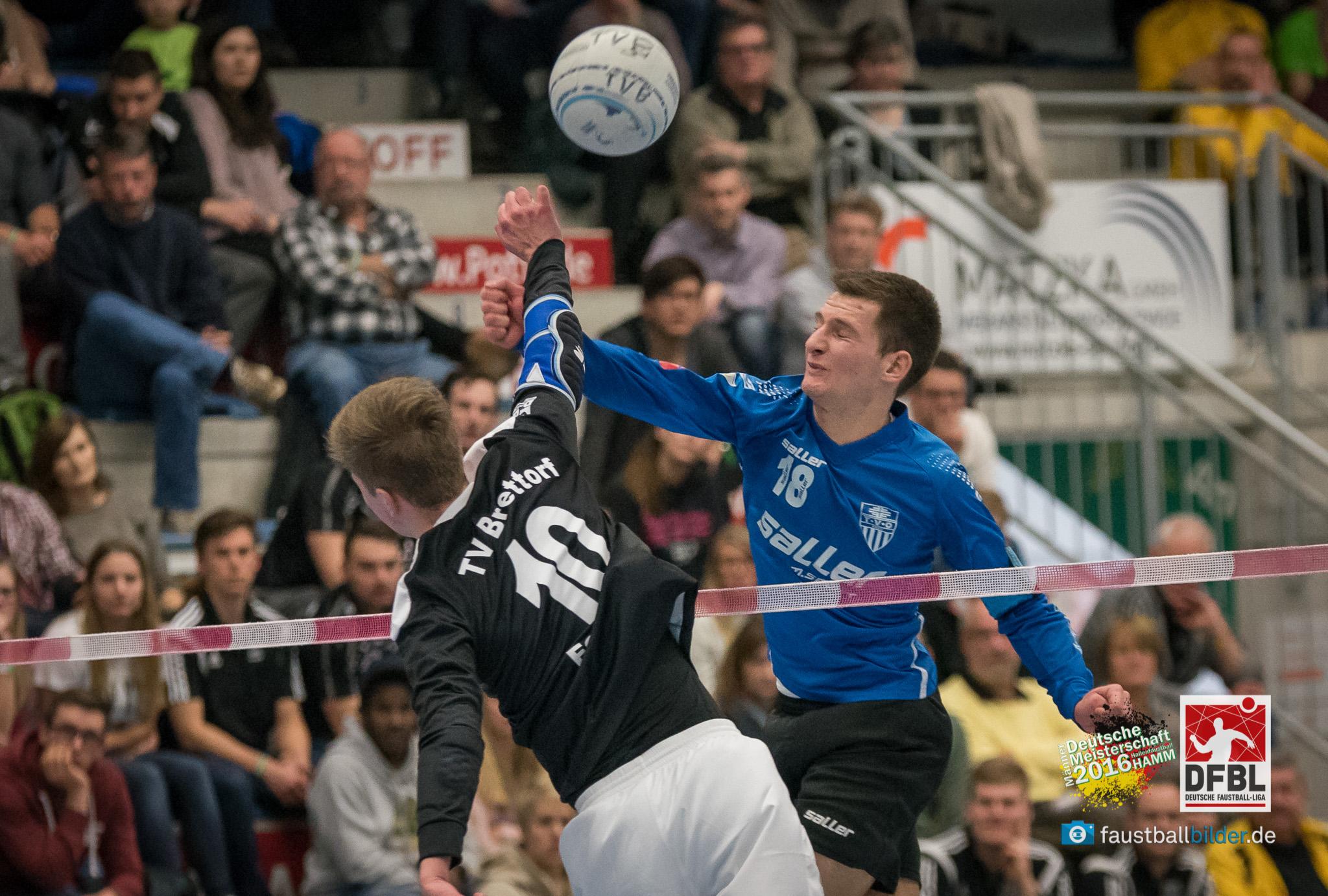 Ein phänomenaler Fabian Sagstetter (r.) verpasst mit Schweinfurt die Bronzemedaille nur knapp (Foto: DFBL/Schönwandt)
