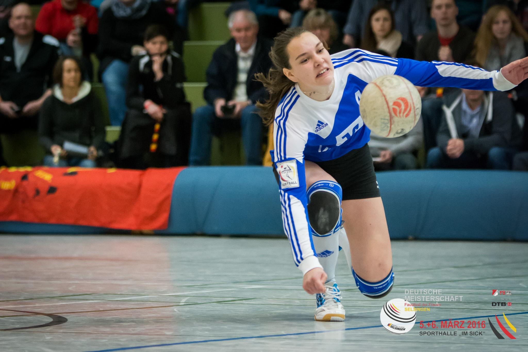 Starke DM-Debütantin: Pia Neuefeind vom Ahlhorner SV (Foto: DFBL/Harder)