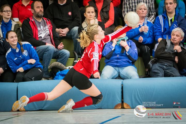 Starkes Spiel gemacht und doch verloren: Laura Marofke vom MTSV Selsingen. (Foto: DFBL/Harder)