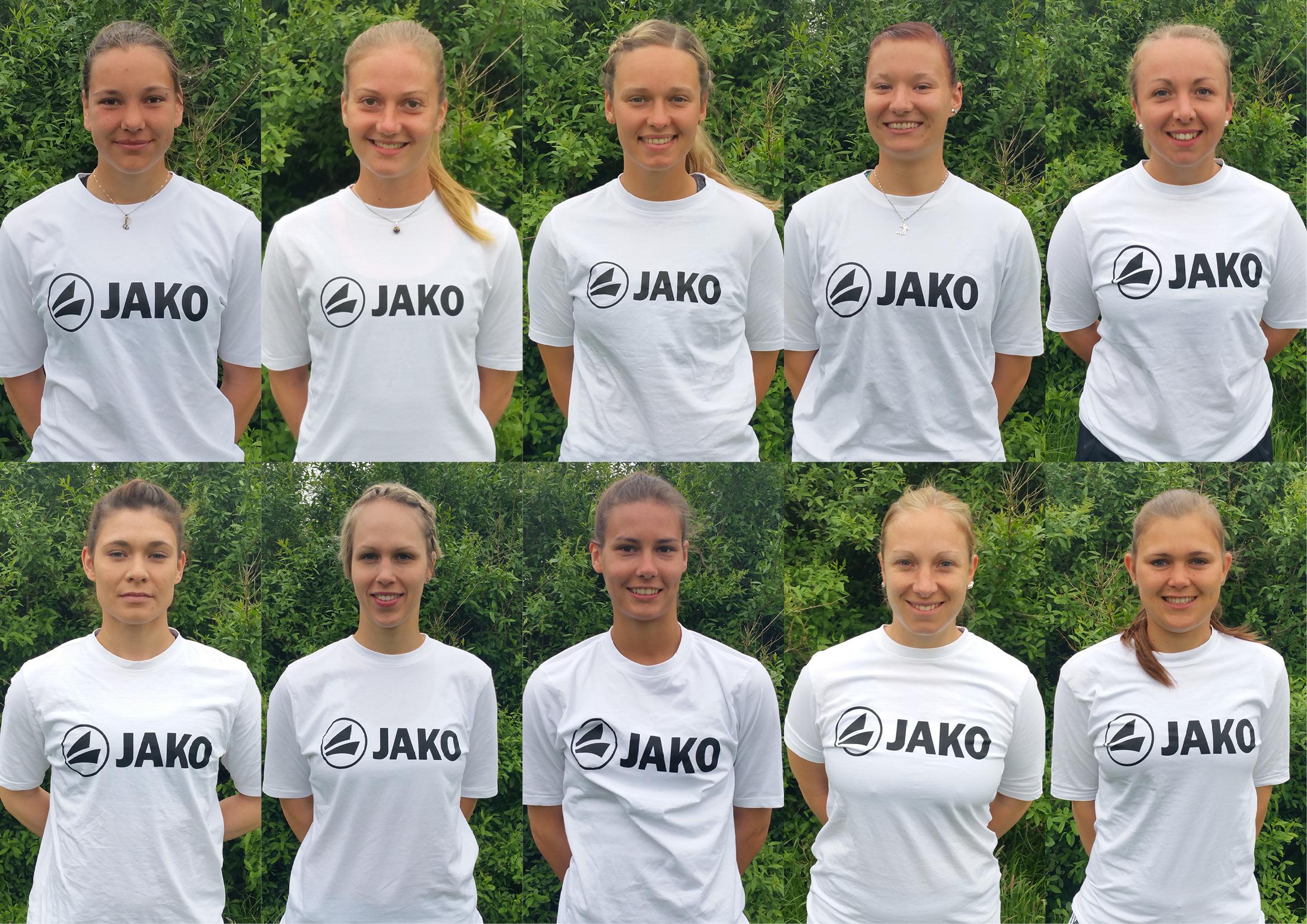 Team Deutschland: Oben, v. l. Pia Neuefeind, Hinrike Seitz, Sophia Scheidt, Aniko Müller, Anna-Lisa Aldinger. Unten v. l.: Stephanie Dannecker, Sonja Pfrommer, Theresa Schröder, Annkatrin Aldinger, Annika Bösch.