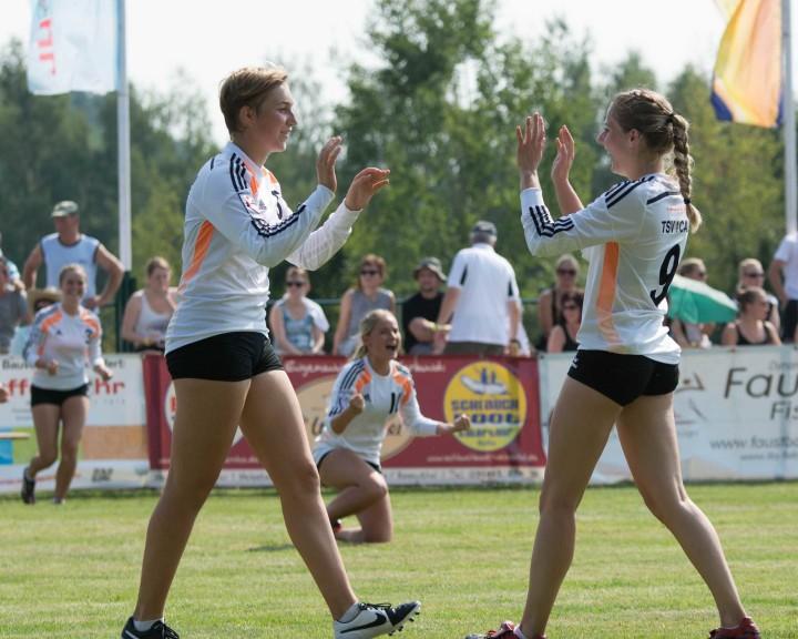 DM-Ziel Medaille für die Frauen aus Calw (Foto: DFBL/Schönwandt)