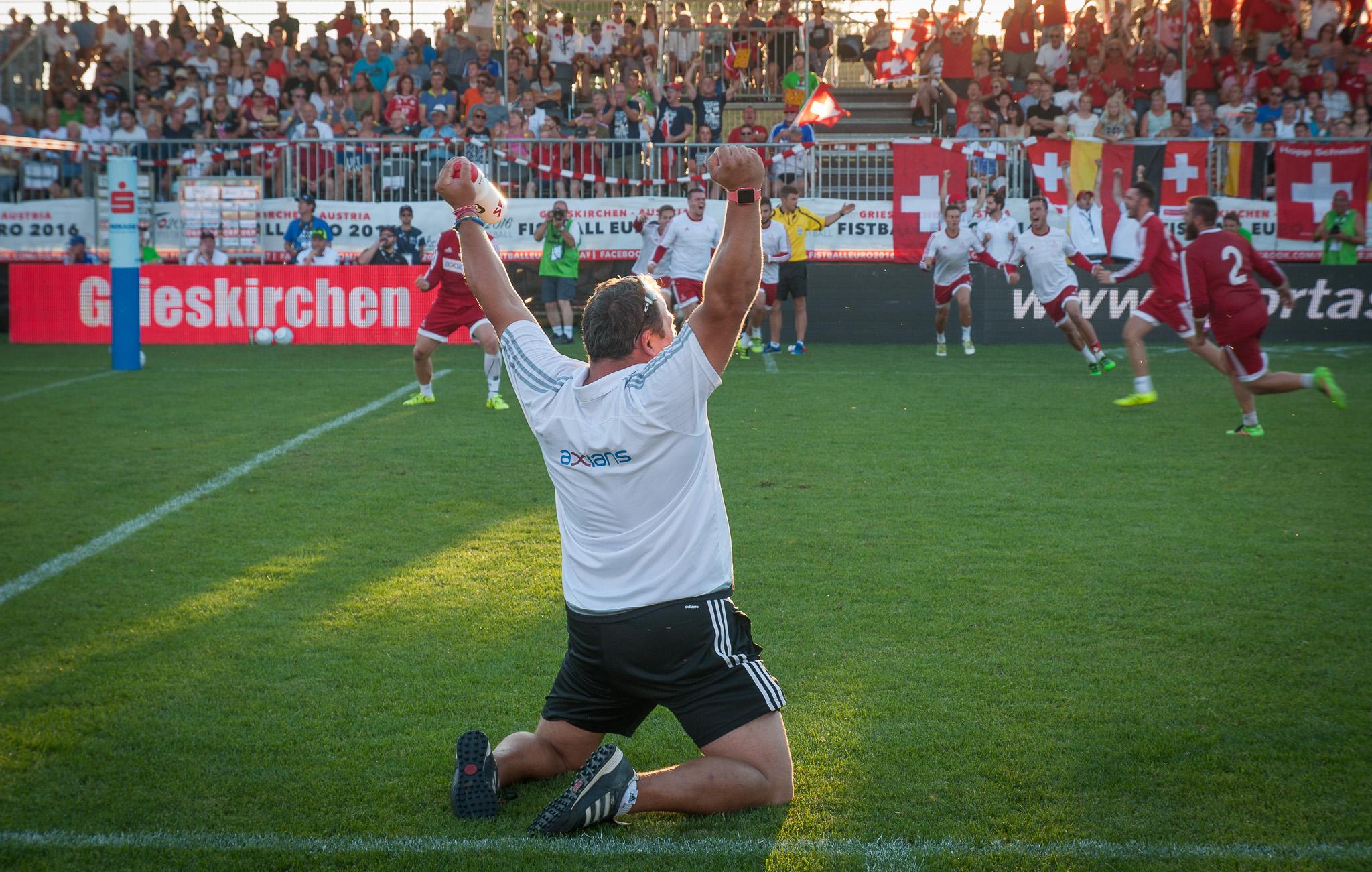 Schweizer Jubel nach dem Finaleinzug. (Foto: DFBL/Schönwandt)