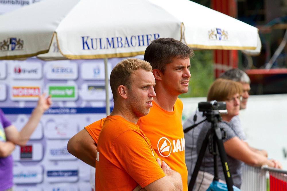 Kolja Meyer (r.) und Tim Lemke sind die neuen Bundestrainer der männlihen U18. (Foto: DFBL/Kadgien)