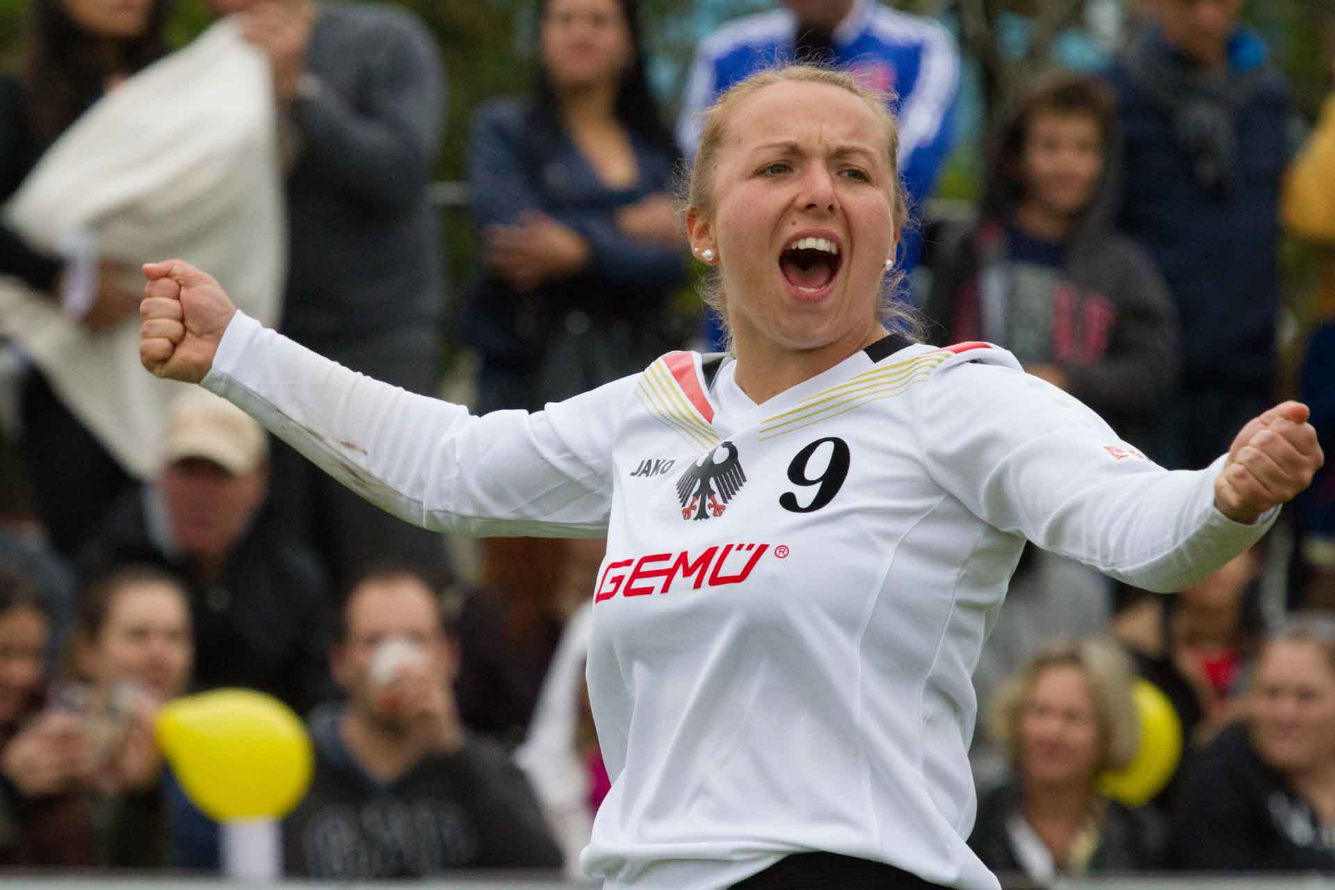 Jaaa! Deutschland mit Anna-Lisa Aldinger holt WM-Gold! (Foto: DFBL/Spille)