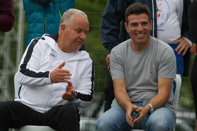 Ex-Fußballnationalspieler Paulo Rink (r.) mit dem deutschen Delegationsleiter Harald Muckenfuß (Foto: Spille)