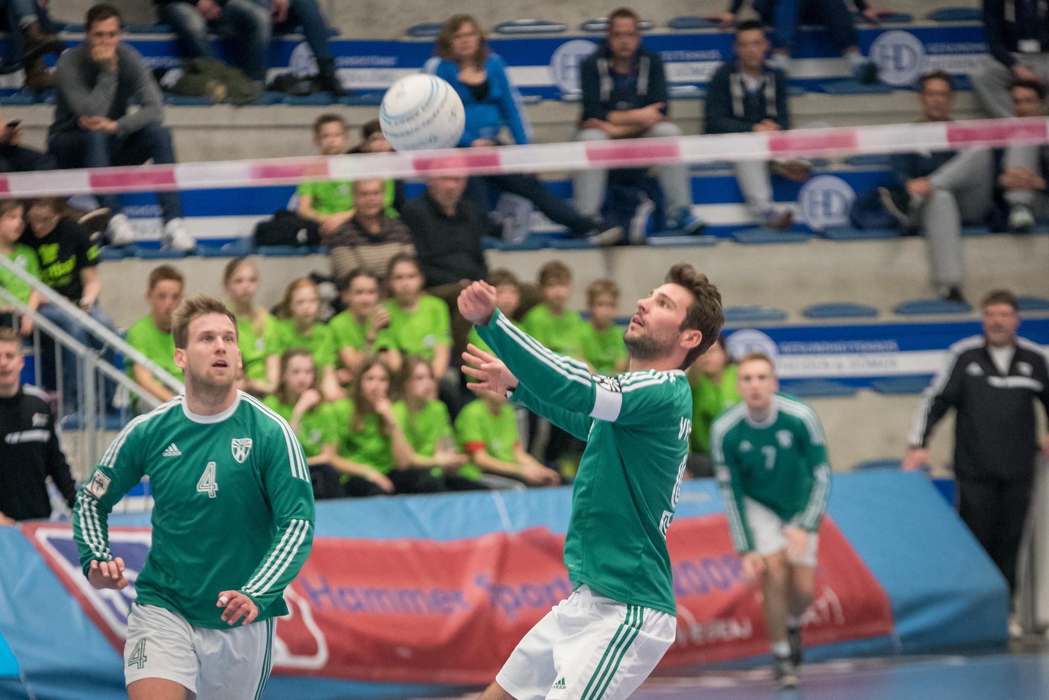 Wieder Topfavoriten im Norden: Lukas Schubert (l.) und Jascha Ohlrich vom VfK Berlin. (Foto: DFBL/Schönwandt)