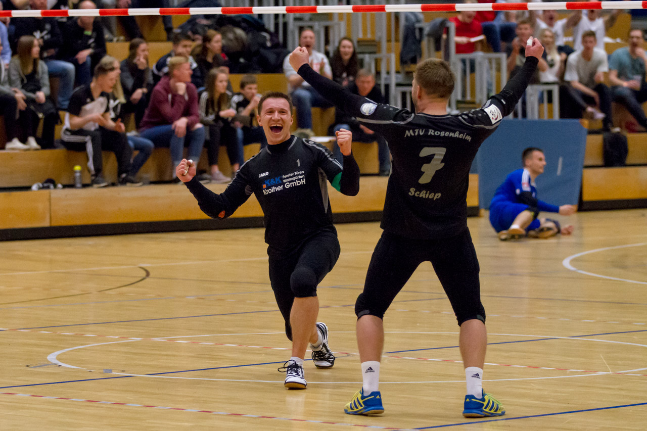 Furioses Finish! Rosenheim zieht nach Aufholjagd ins DM-Halbfinale ein. (Foto: DFBL/Stöldt)