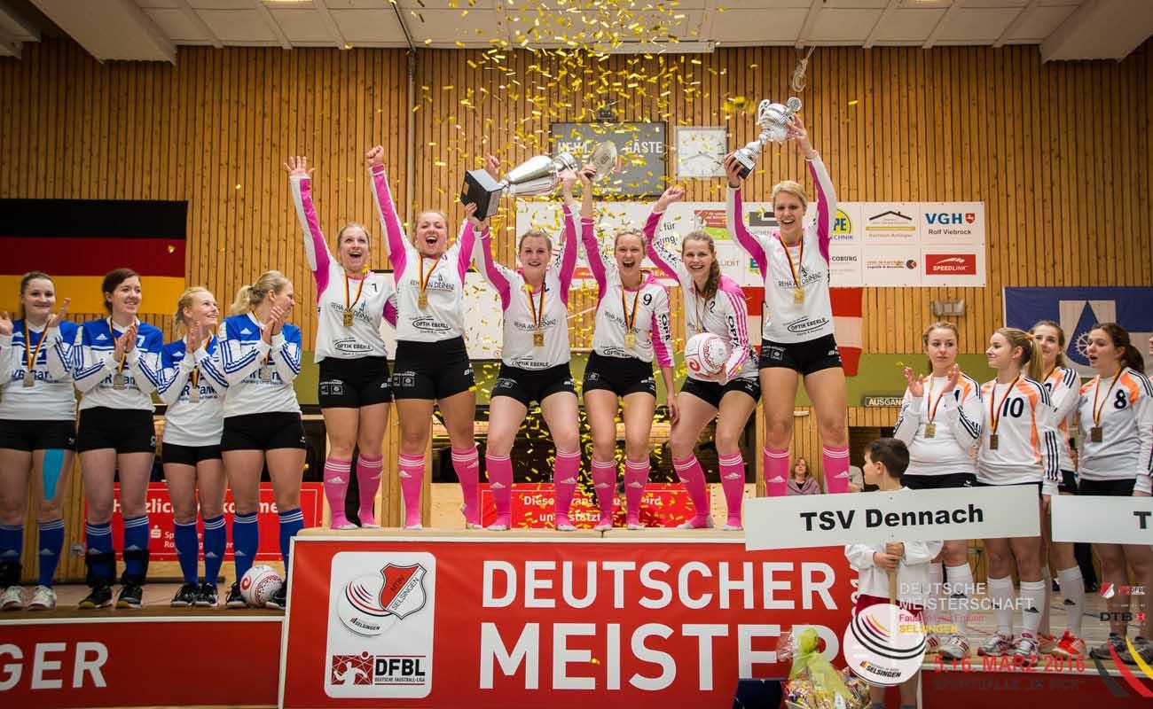 2016 jubelte der TSV Dennach über den DM-Titel - wer macht's dieses Mal? (Foto: DFBL/Harder)