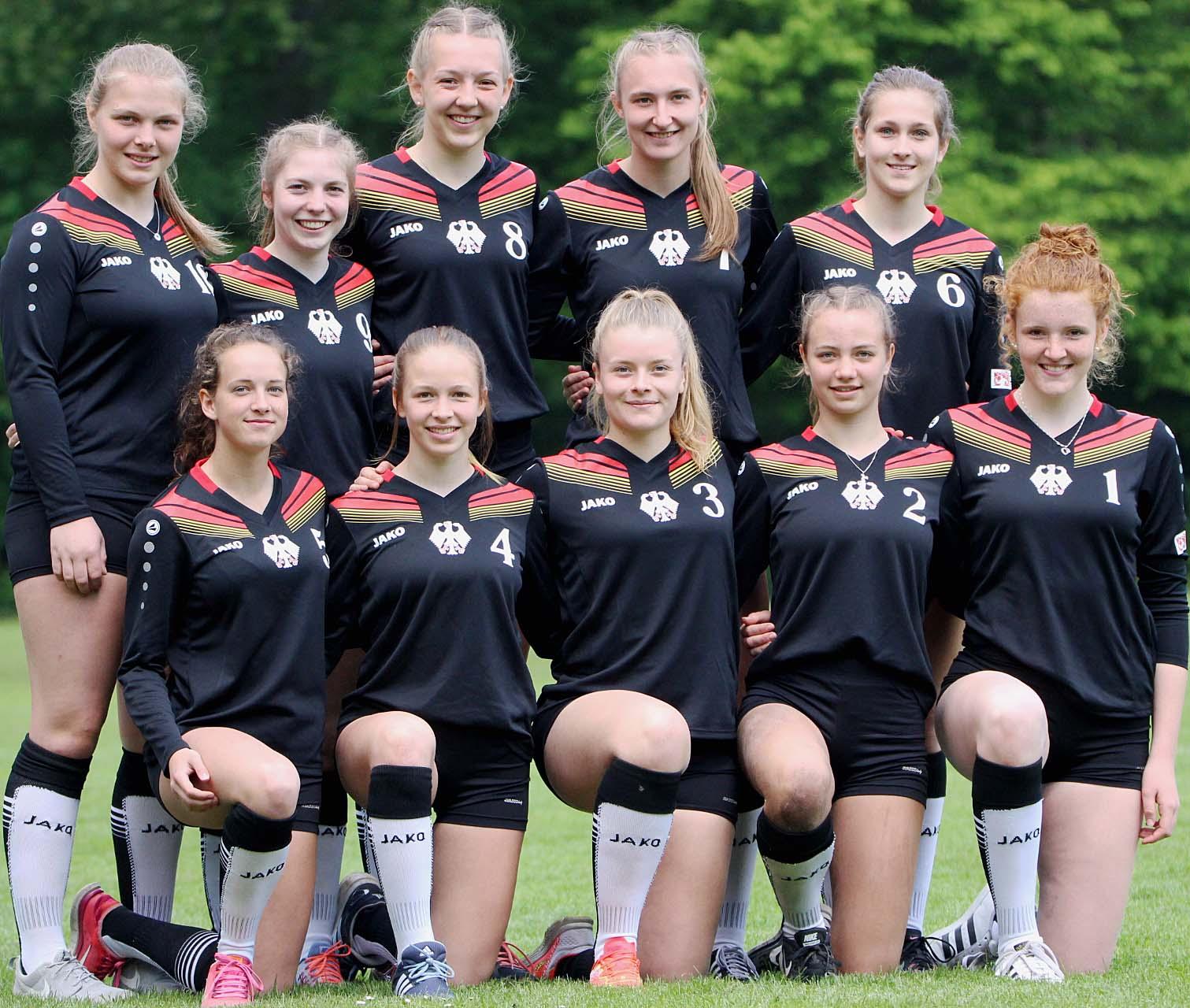 Das Team für die U18-EM (Foto: Schnackenberg)