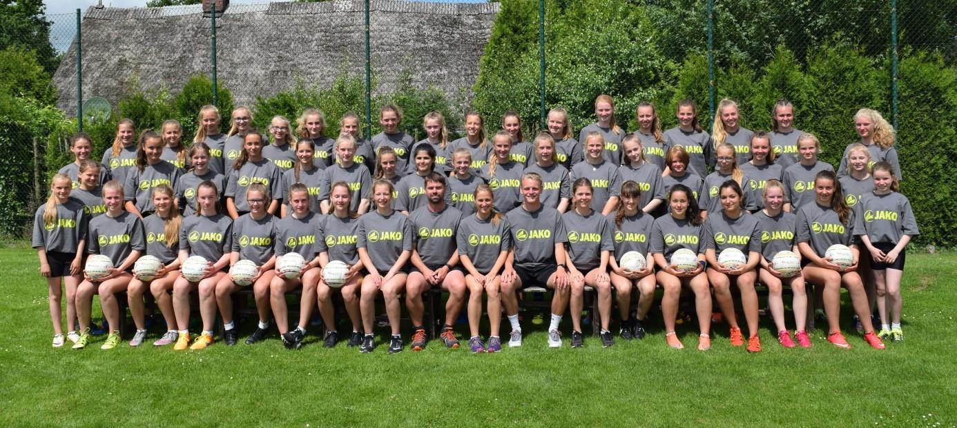 Bundeslehrgang U13-U15 - weiblicher D-Kader trainiert in Düdenbüttel