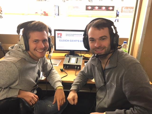Die DM-Kommentatoren Marco Salzberger (l.) und aaron Dumke (Foto: bec)